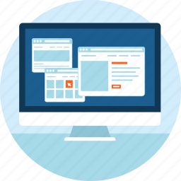 app, coding, concept, development, flat design, web page, website icon