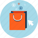 bag, ecommerce, flat design, online, order, sale, shopping icon