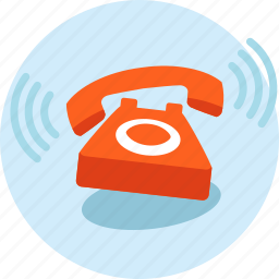 call, communication, contact, flat design, telephone icon