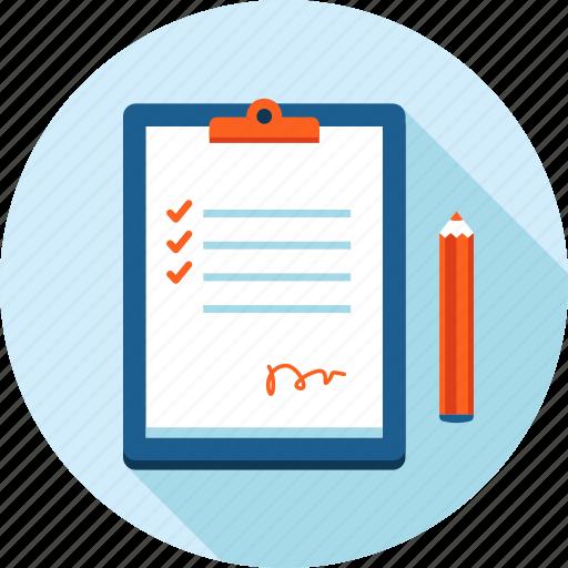 checklist, checkup, control, flat design, list, order, procedure icon