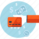 banking, credit card, flat design, method, money, payment, shopping icon