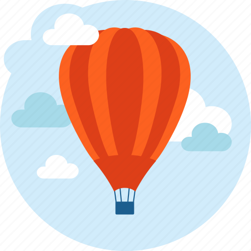 discover, explore, flat design, hot air balloon, transportation, travel icon