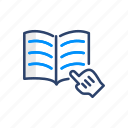 book, education, notebook, read, reading, study icon