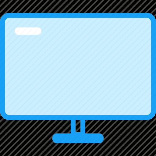 blue, moon, tv icon