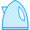 blue, moon, teapot icon