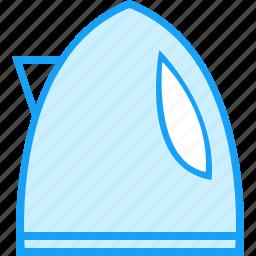 blue, moon, teapot icon