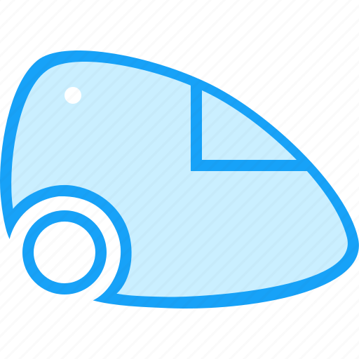 a vacuum cleaner, blue, moon icon