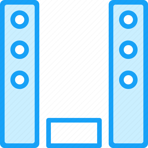 audio, blue, hi-fi, moon, stereo icon