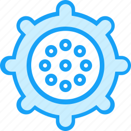blue, meat grinder, moon icon
