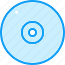 blue, cd, moon icon