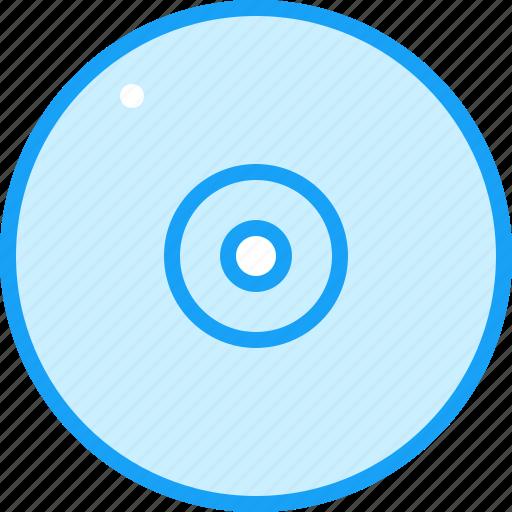 blue, cd, moon icon