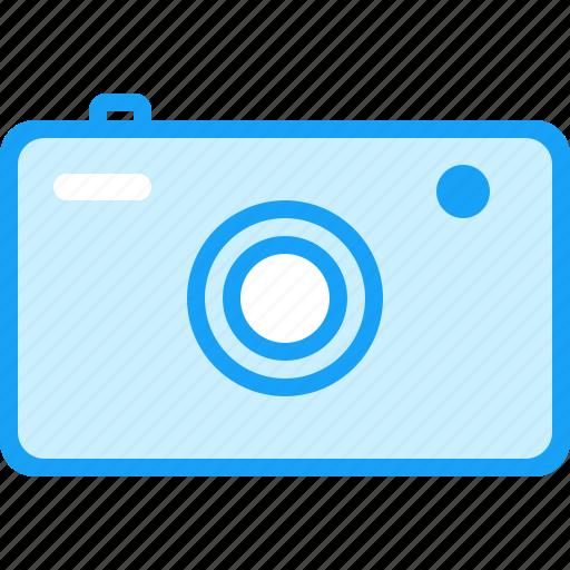 blue, camera, moon icon
