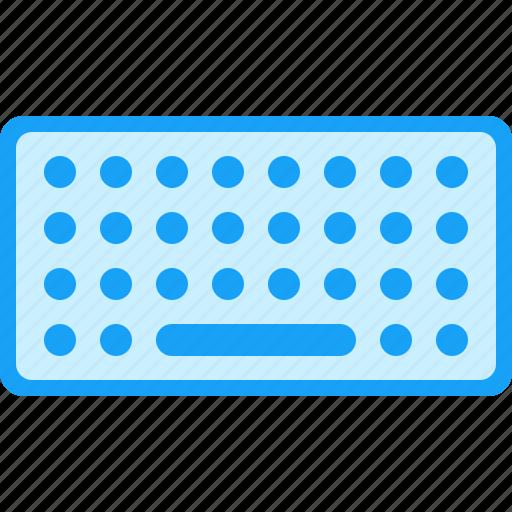 blue, keyboard, moon icon