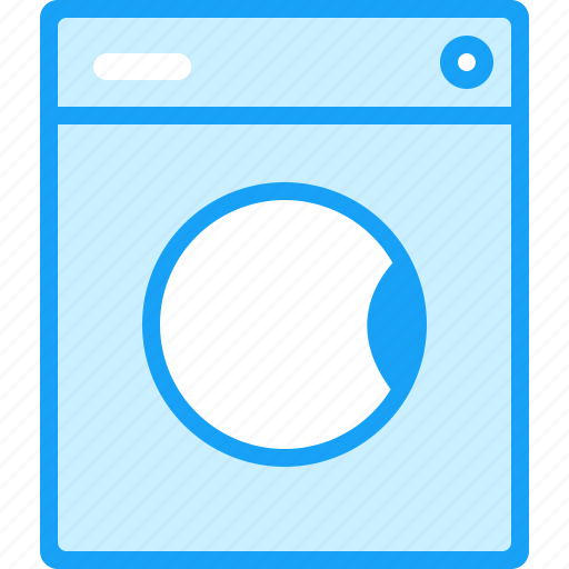 blue, moon, washer icon