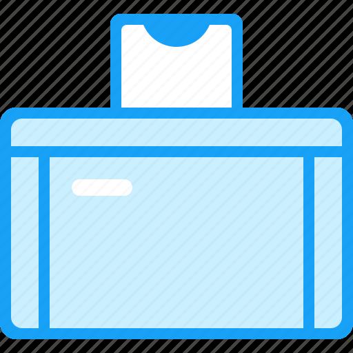 blue, moon, printer icon
