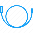 blue, cord, moon icon