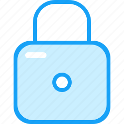 blue, lock, moon icon
