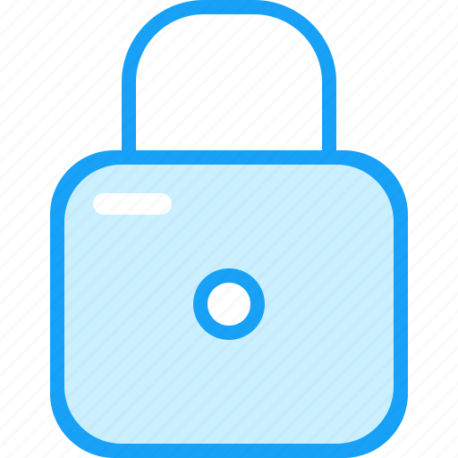 blue, lock, moon icon