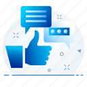 chat, message, review, text icon