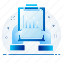 analysis, business, chart, office, report icon