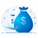 currency, invest, investment, loan, money icon