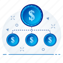 business, conversion, currency, finance, money icon