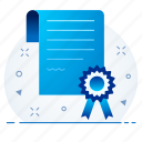 certificate, document, page, paper icon