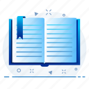 book, document, notebook, open, sheet icon