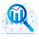 analysis, data, find, report, search, statistics icon