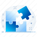 blocks, business, management, strategy icon