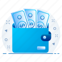 bank, business, finance, money, wallet icon