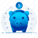 bank, investment, mutual funds, piggy, premium, save icon