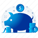 funds, invest, investment, money, mutual, save icon