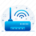 connection, internet, network, router icon
