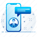 communication, message, mobile, phone, text icon