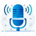 mic, microphone, mike, music, audio, sound icon