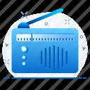 communication, message, radio icon
