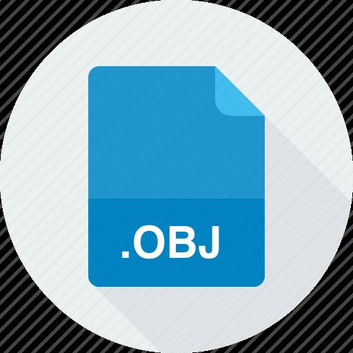 obj, wavefront 3d object file icon