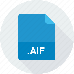 aif, audio interchange file format icon