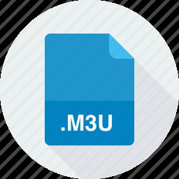 m3u, media playlist file icon