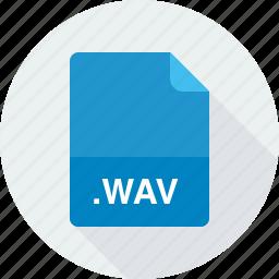 wav, wave audio file icon