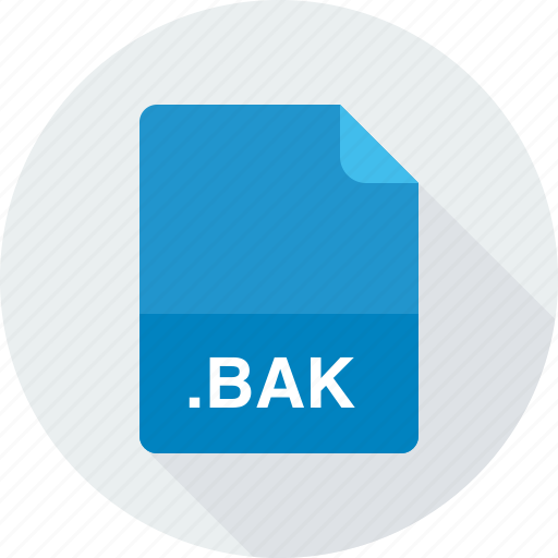 backup file, bak icon
