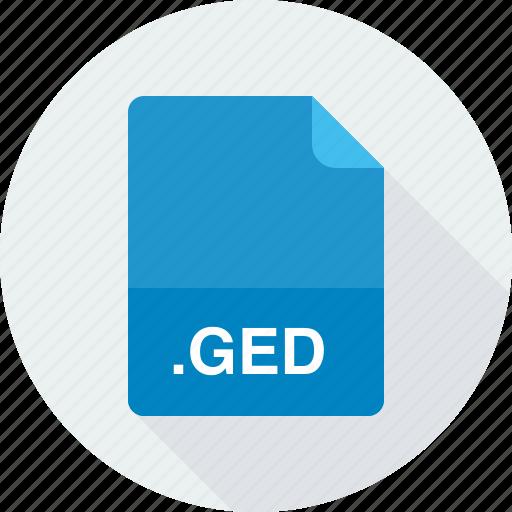 ged, gedcom genealogy data file icon