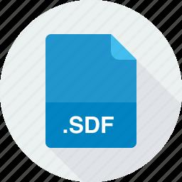 sdf, standard data file icon