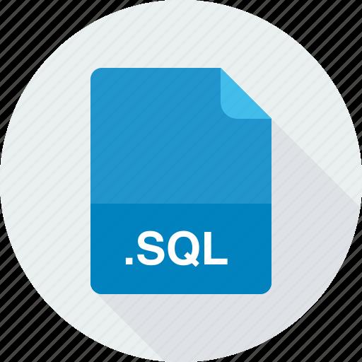 sql, structured query language data file icon