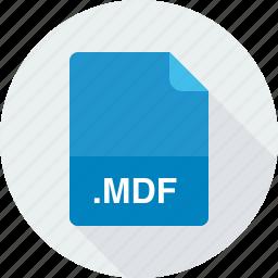 mdf, media disc image file icon