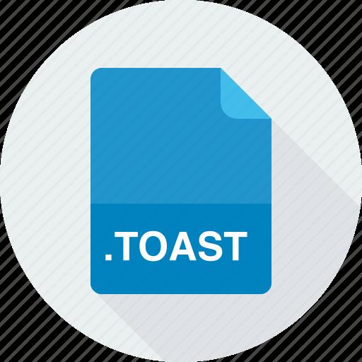 toast, toast disc image icon