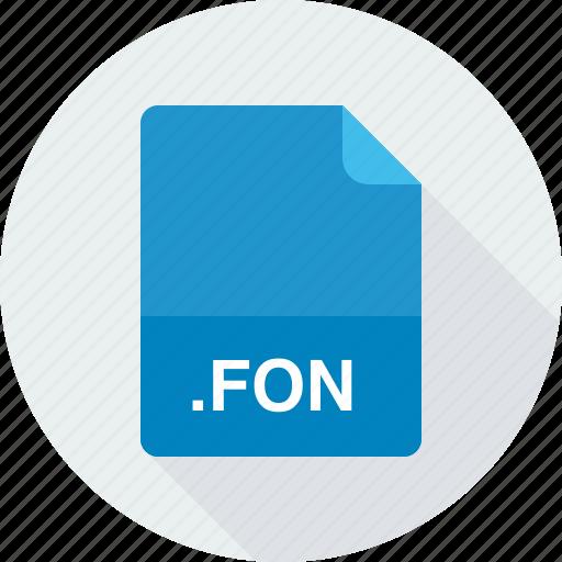 fon, font files, generic font file icon
