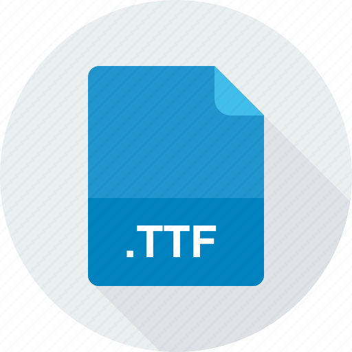 truetype font, ttf icon