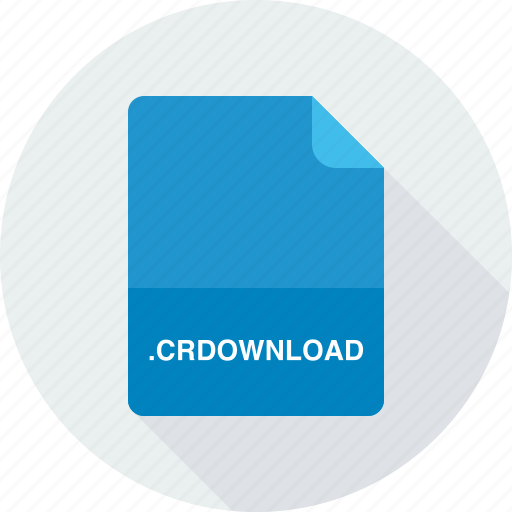 chrome partially downloaded file, crdownload icon